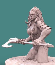 Orc Woman by Mohammed Nazmul Hoque Character Modeling, 3d Character, Character Concept, Concept Art, Character Design, Zbrush, 3d Figures, Modelos 3d, Art Station