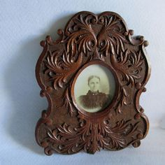 Leather Tooling, Tooled Leather, Antique Picture Frames, Hand Carved, Carved Wood, Vintage Picture Frames, Vintage Home Decor, Home Decor Accessories, Gallery Wall