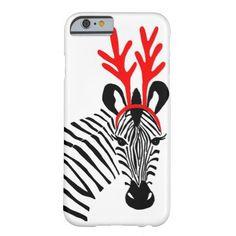 Christmas Holiday Zebra iPhone 6 case