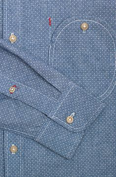 .Pocket Detail. Great with a spot of red stitching here and there. Beautifully sewn.