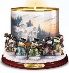 Kerzenhalter aus Porzellan - Die Weihnacht erhellen