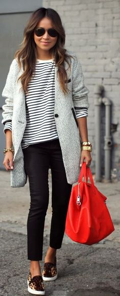 Stripes and Black Denim ---> Get the look here http://handinpocket.com/bb-dakota-raiden-striped-sweater-open-back-bf16715.html
