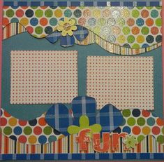 Fun 12x12 Premade 2 Page Scrapbook Layout by 2ScrappyGals on Etsy