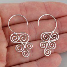 Cascading Spiral Earrings - 925 Sterling Silver