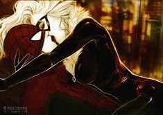 Spiderman x Black Cat by Heylenne on DeviantArt Spiderman Black Cat, Gifts For My Boyfriend, Disney Characters, Fictional Characters, Aurora Sleeping Beauty, Marvel, Deviantart, Comics, Cats