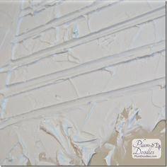 Faux mortar lines in drywall mud | PlumDoodles.com