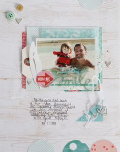 #Papercraft #scrapbook #layout. Smile by Michelle Wedertz at @studio_calico