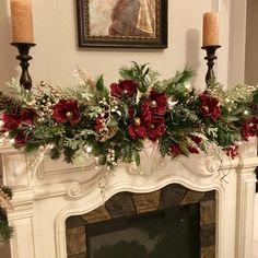 Christmas Magnolia Garland 9 foot 140 LED light with multi Etsy Diy Christmas Fireplace, Christmas Mantels, Rustic Christmas, Christmas Home, Christmas Lights, Christmas Holidays, Christmas Wreaths, Christmas Crafts, Christmas Decorations