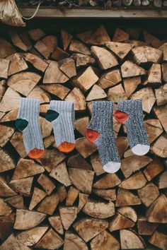 Luxury knitted socks that are ideal to wear about the house, for keeping feet warm in bed at night.