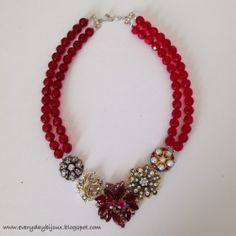 Everyday Bijoux: DIY Beaded [Heirloom] Statement Necklace: Valentin...