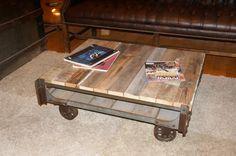 Industrial Cart Coffee Table. $350.00, via Etsy.