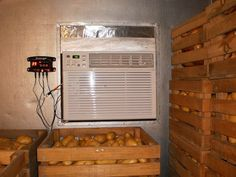 DIY walk-in cooler using an off the shelf air conditioner