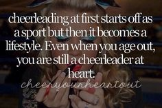 Going on the third year that I've been out of cheerleading, and I still live my life in the gym, to 8 counts, and adding glitter here and there Cheer Coaches, Cheer Stunts, Cheer Dance, Cheerleading Quotes, Cheer Quotes, Cheer Sayings, Gymnastics Quotes, Sport Quotes, All Star Cheer