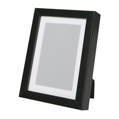 """IKEA - RIBBA, Frame, 5x7 """", , Can be used hanging or standing, both horizontally and vertically, to fit in the space available.The mat is acid-free and will not discolor the picture.Can also be used without the mat for a larger picture."""