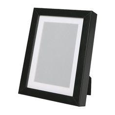 RIBBA Frame, black black 7 ¾x9 ¾
