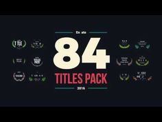 84 Titles Pack (Videohive After Effects Templates)
