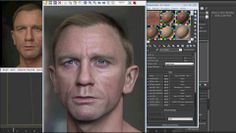 "Making of ""Portrait of Daniel Craig"" by Luc Bégin V-Ray for 3dsMax Tutorial"