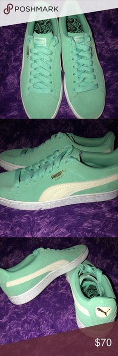 Green women's puma shoes. Nice green puma shoes in great condition! Only worn a few times! Puma Shoes Sneakers