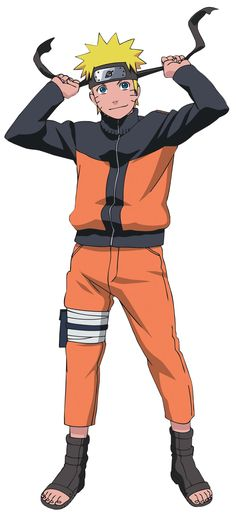 This is Naruto Uzumaki in Naruto Shippuden. He's older in this picture