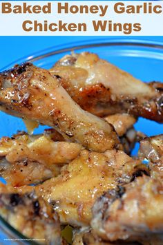 Bake for Use fresh garlic. Baked Honey Garlic Chicken Wings are much easier to fix than frying chicken wings. The sauce is sweet and garlicky. They are finger licking good! Garlic Butter Chicken Wings Recipe, Baked Honey Garlic Chicken, Cooking Chicken Wings, Fried Chicken Wings, Chicken Wing Recipes, Baked Chicken, Garlic Wings, Chicken Bites, Garlic Parmesan