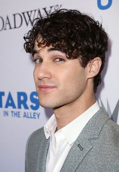 Darren Criss backstage at United presents 'Stars in the Alley' in Shubert Alley on May 27 2015 in New York City
