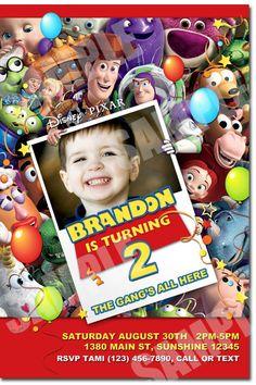 Toy Story invitación cumpleaños de Toy Story para por Uprintparty