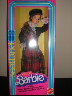 Vintage Barbie Dolls of The World 1980 Scottish/Scotland Mattel  #DollswithClothingAccessories