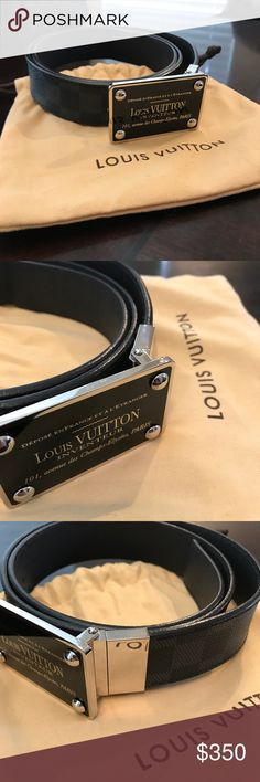 f7db873b0740 Shop Men s Louis Vuitton Silver Black size 36 Belts at a discounted price  at Poshmark. Bought in Paris