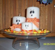 Easy-to-Make Halloween Centerpiece,,, Like everything about this centerpiece...however the Candy Corn would not last long...LOL