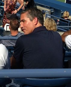Jim Caviezel, US Open, New York, 2013. I don't no why this is not showing but if you click on it it will come thought.