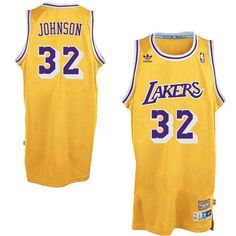 42a544bbf Magic Johnson Los Angeles Lakers adidas Hardwood Classics Swingman Jersey -  Gold Magic Johnson Lakers