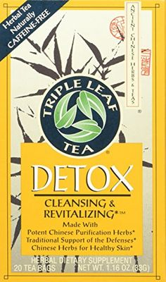Triple Leaf Tea Chinese Medicinal Detox Triple Leaf Tea Bag 20 Count * Want additional info? Click on the image.