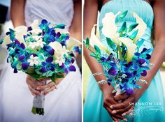 Wedding: Blue And Purple Wedding Bouquet Simple Design: Blue And . Wedding Vendors, Wedding Blog, Dream Wedding, Wedding Day, Wedding Stuff, Wedding Wishes, Spring Wedding, Blue And Purple Flowers, Blue Orchids