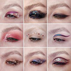 August wasn't very productive, you know, so instead of a usual monthly collage I gathered all of my favourite glitter looks, just to… Glam Makeup, Cute Makeup, Pretty Makeup, Skin Makeup, Makeup Art, Glitter Makeup Looks, Crazy Makeup, Eyeshadow Makeup, Makeup Trends