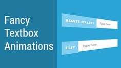 Today's freebie is a combination of jQuery and CSS3 animations we call it FancyTex. FancyText is a text box plugin that automatically converts standard HTML input element to an animation composite control, with lots of transitions too choose from.