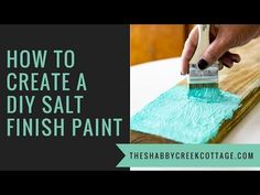 Love the look of beach cottage furniture, perfectly washed by the sea and the sun? Get the look with this easy recipe for DIY salt paint - you can make it in minutes!