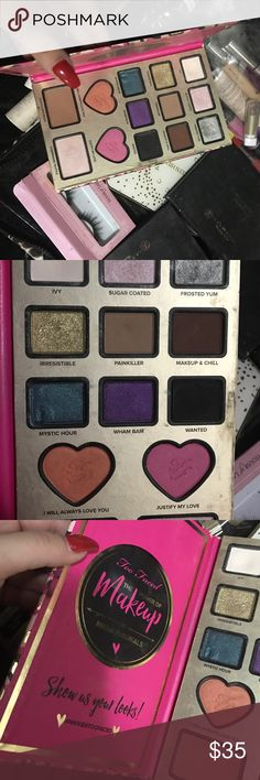 Too faced x nikkietutorials palette Used a few times mystic hour my nail got in there that's why it's like that Too Faced Makeup