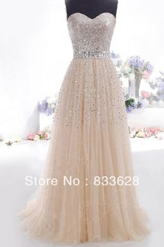NEW Gold Sequins Long Prom Dress Evening Cocktail Dress Wedding Bridesmaid Gown