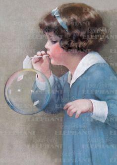 Birthday Bubbles Childhood Creativity Girlhood Illustrator: Bessie Pease Gutman Imprint: Laughing Elephant'