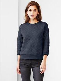 Quilted sweatshirt | Gap