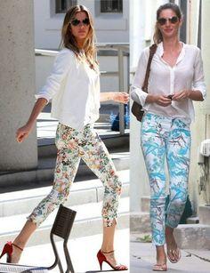 Pantalones estampados primavera-verano.