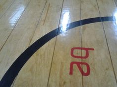 Plywood floor for sports store