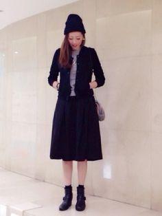 KATHARINE ROSS 難波店 | sakiさんのスカート「KATHARINE ROSS 【KATHARINE ROSS】メモリーグログランスカート」を使ったコーディネート