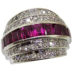Ruby Diamond Band Ring | 1stdibs.com