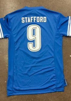 1e7952620 Matthew Stafford Detroit Lions Light Blue Hashmark Short Sleeve Fashion  Player T Shirt