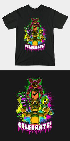 Five Nights at Freddy's Celebrate T Shirt | Visit Shirt Minion http://shirtminion.com/2016/02/five-nights-freddys-celebrate-t-shirt/