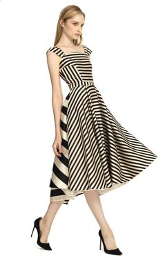 Katie Ermilio Multi Stripe Swing Dress at Moda Operandi