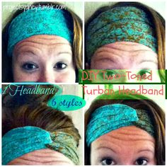 A tutorial for a DIY headband that you can wear 6 different ways with your hair! Shows you how to do all 6 ways!