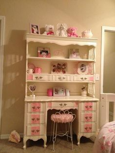 PINK FRENCH HUTCH/DESK AFTER