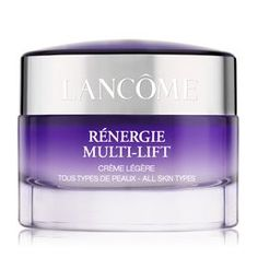 Lancôme Creme Anti-Idade Rénergie Multi-Lift Légère - The Beauty Box Cream For Dry Skin, Skin Care Cream, Creme Anti Rides, Glycerin, Les Rides, Beauty Tips For Skin, Beauty, Biology